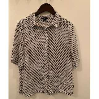 H&M Size 2 Short Sleeved blouse