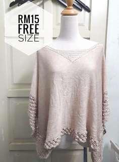 Knitted Top cape fit L