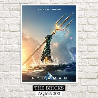 """Free Delivery Buy 1 Take 1 Large Aquaman Poster 18"""" x 24"""" Inches"""