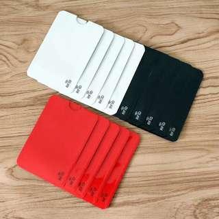 [包郵]紅白黑 三色 RFID 防盜 卡套 (身份證 VISA Master Paywave 八達通 )一張