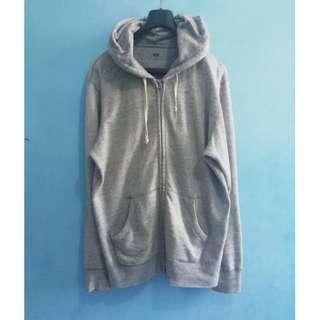 Uniqlo New Tag Light Grey Zipper Hoodie XL
