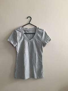 Brand New Grey V-Neck Short Sleeve Tee
