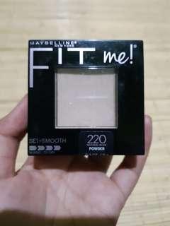 Bedak maybelline fit me 220 natural beige set+smooth