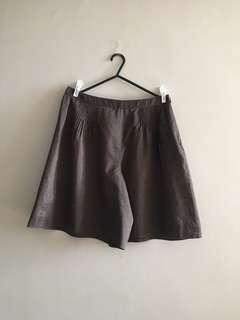 Brown Culottes Pants Shorts