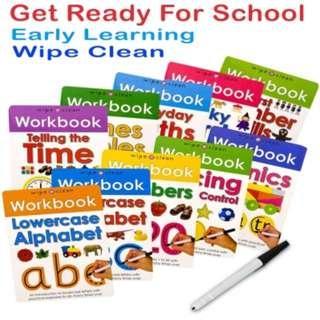 🚚 Priddy Books Wipe Clean Workbook -  10 Activity Books