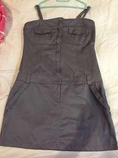 Miss Retro Army Brown Casual Dress