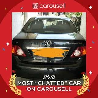 Most Chatted - Toyota Corolla Altis!