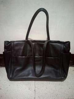 agnès b. Voyage Collection Black Leather Shoulder Bag