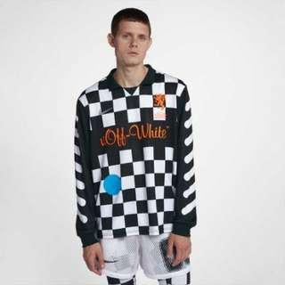 Nike Offwhite football jersey