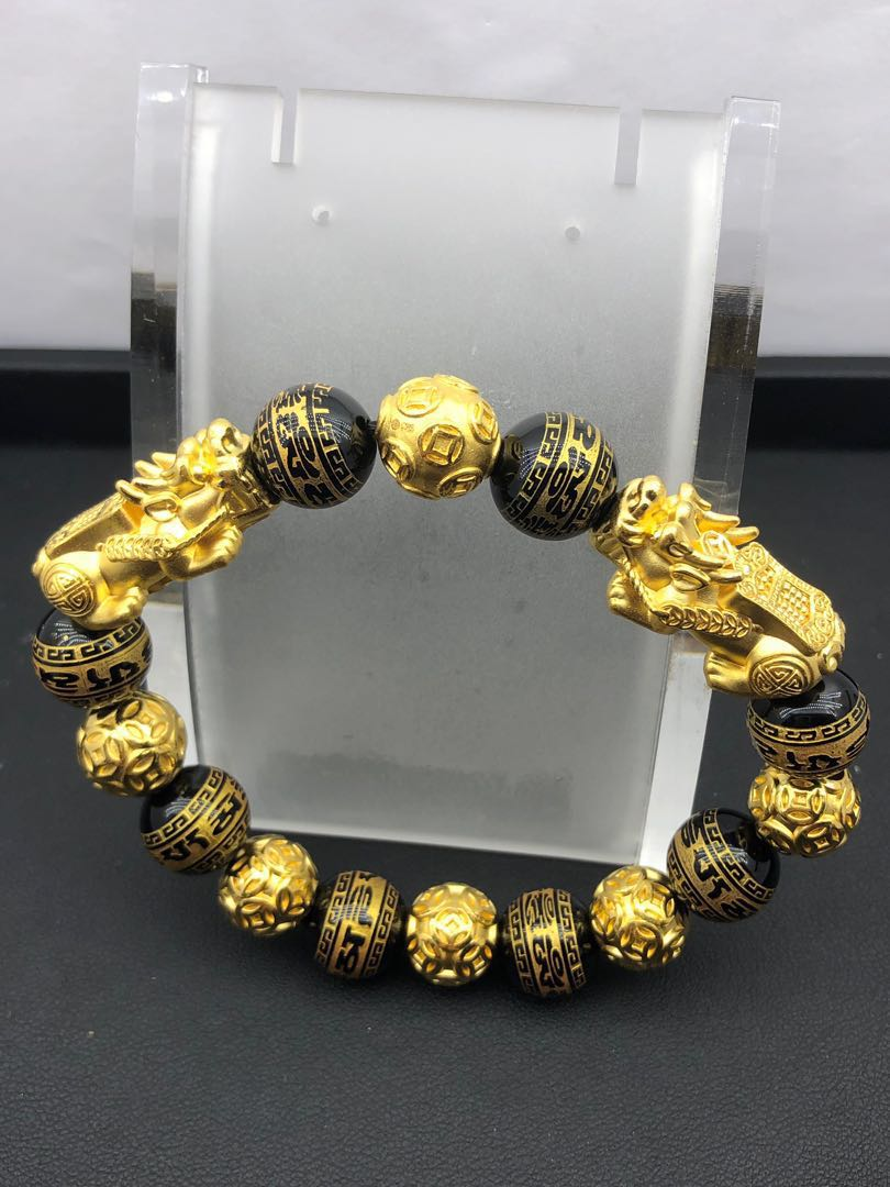 7d833ef48 999 gold pixiu bracelet with 999 gold ball, Men's Fashion ...