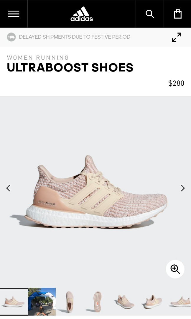 0d1ed01af0237 Adidas Ultraboost 4.0 womens pink