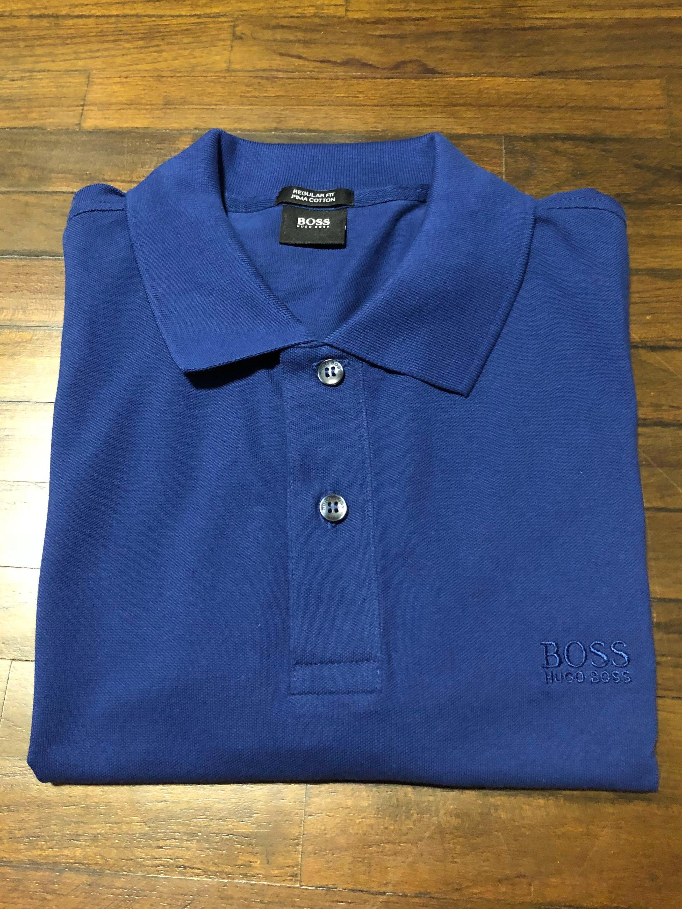 92284bb24a62a Authentic Hugo Boss Regular Fit Pima Cotton Men s Polo Tee