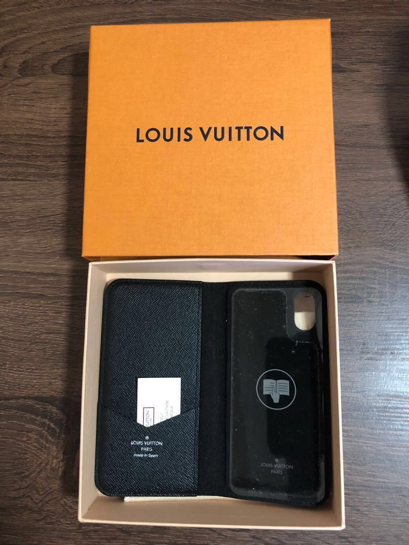 premium selection 72643 c92d5 Authentic iPhone X folio case Louis Vuitton