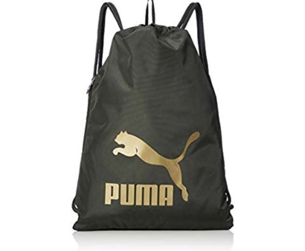 32aa0b9779bb Authentic Puma Drawstring Bag Carry Sack - Forest Night Gold