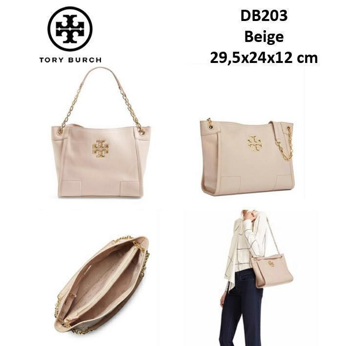 3a9a45b8ca03 AUTHENTIC  TORY BURCH BRITTEN SMALL SLOUCHY TOTE FRENCH GREY  NEW99 ...