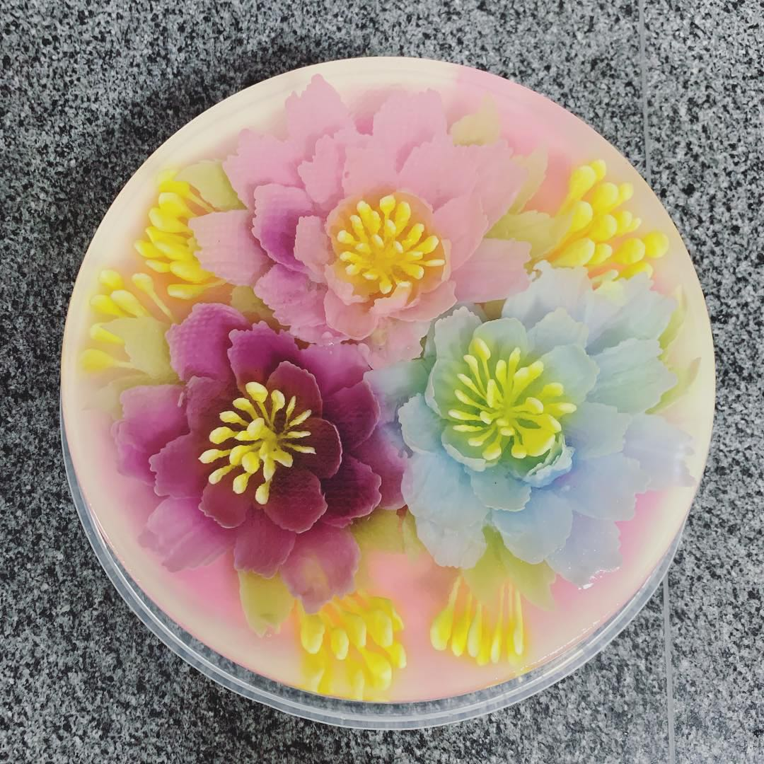 Birthday 3D Jelly Flower Cake Food Drinks Instant Food On Carousell