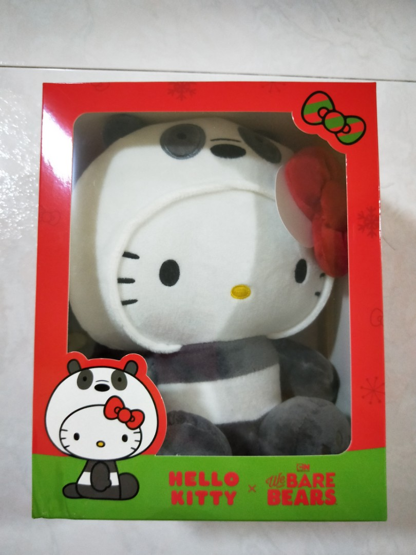 d596fc562 BNIB Sealed Hello Kitty X We Bare Bears Limited Edition, Toys & Games,  Stuffed Toys on Carousell