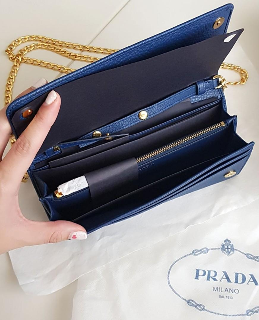 Brand new Prada Clutch Bag with Chains