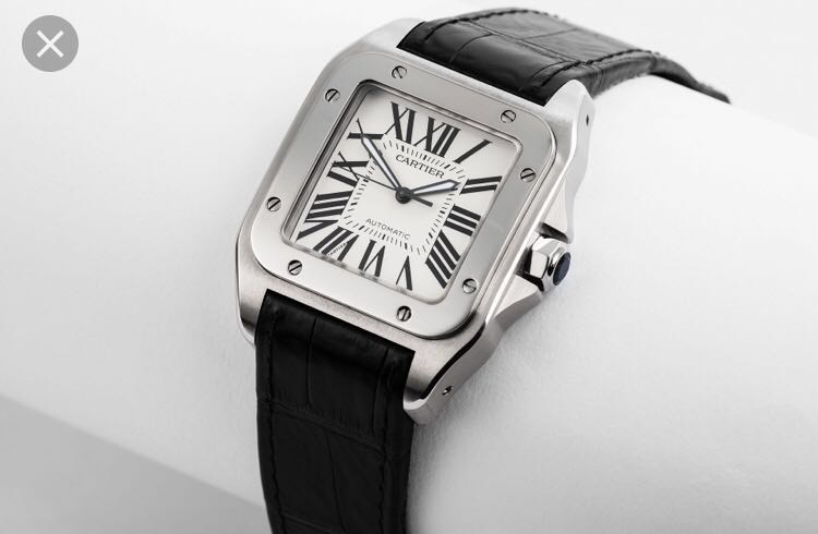 57c32e9cfe44 Cartier Santos 100 XL Steel Automatic Large Men s Watch W20073X8 ...