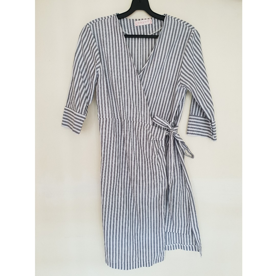 ef239eb5 Kimono striped dress, Women's Fashion, Clothes, Dresses & Skirts on  Carousell
