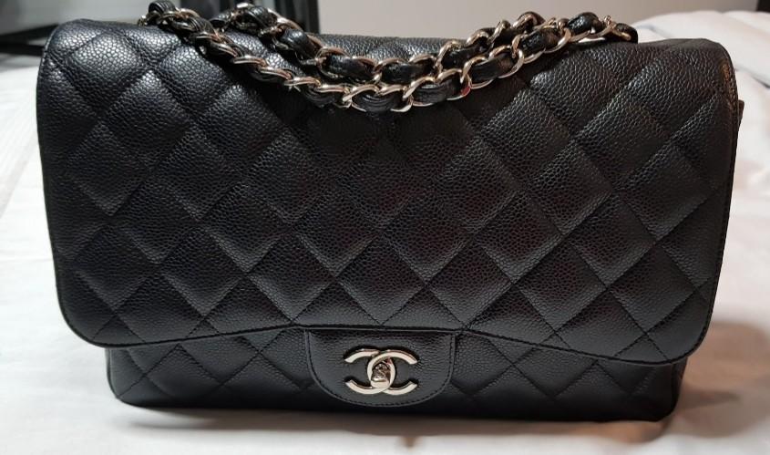 225056aadbf220 Chanel Classic Jumbo Caviar SHW, Luxury, Bags & Wallets, Handbags on ...