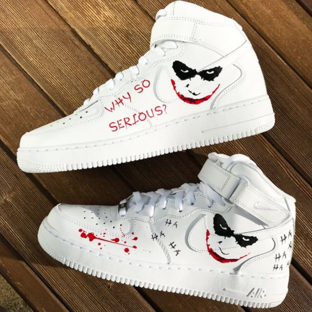 info for 49b52 58885 Custom Nike Air Force 1 MID   Joker  , Women s Fashion, Shoes, Sneakers on  Carousell