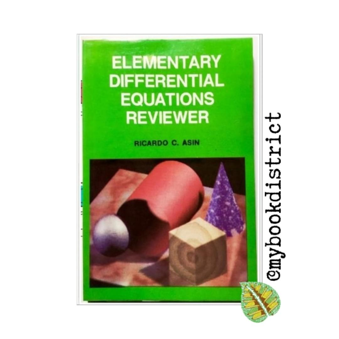 Elementary Differential Equation Reviewer By Ricardo Asin