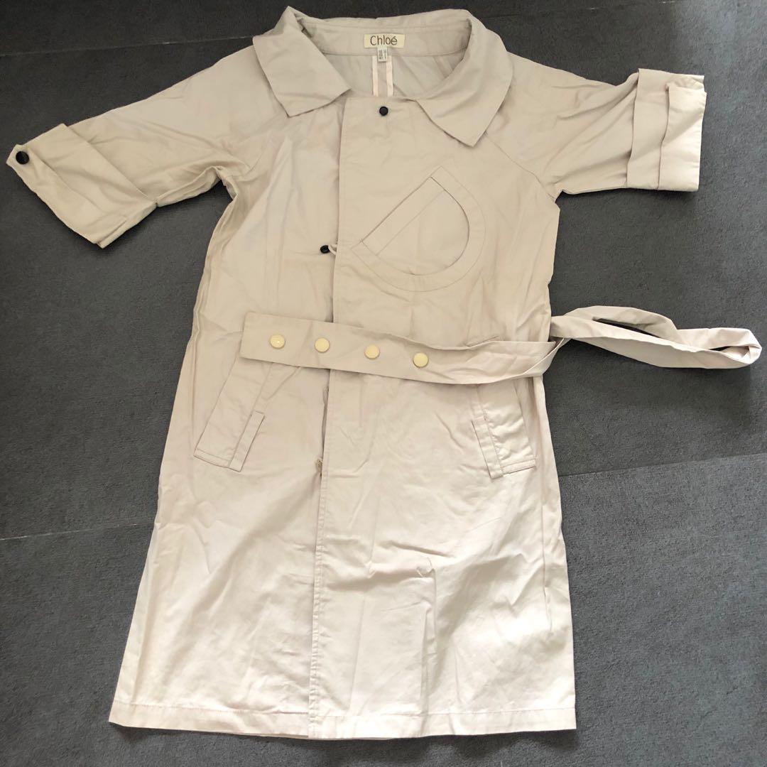 70e2634d423b4 EUC US 2-4 Chloe Safari shirt dress khaki, Women's Fashion, Clothes ...