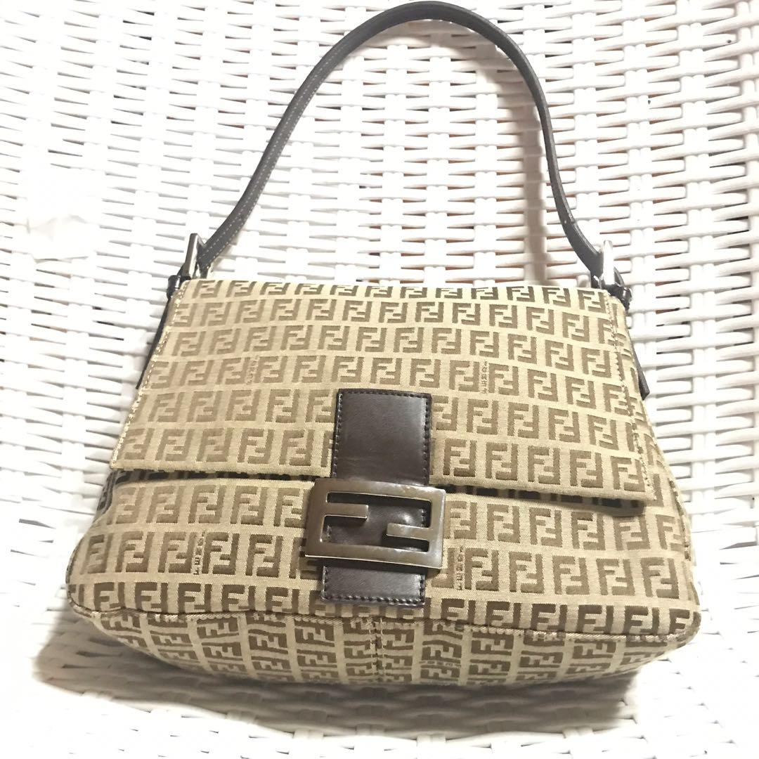 27c063509fc Fendi Zucchino mama forever baguette bag on Carousell
