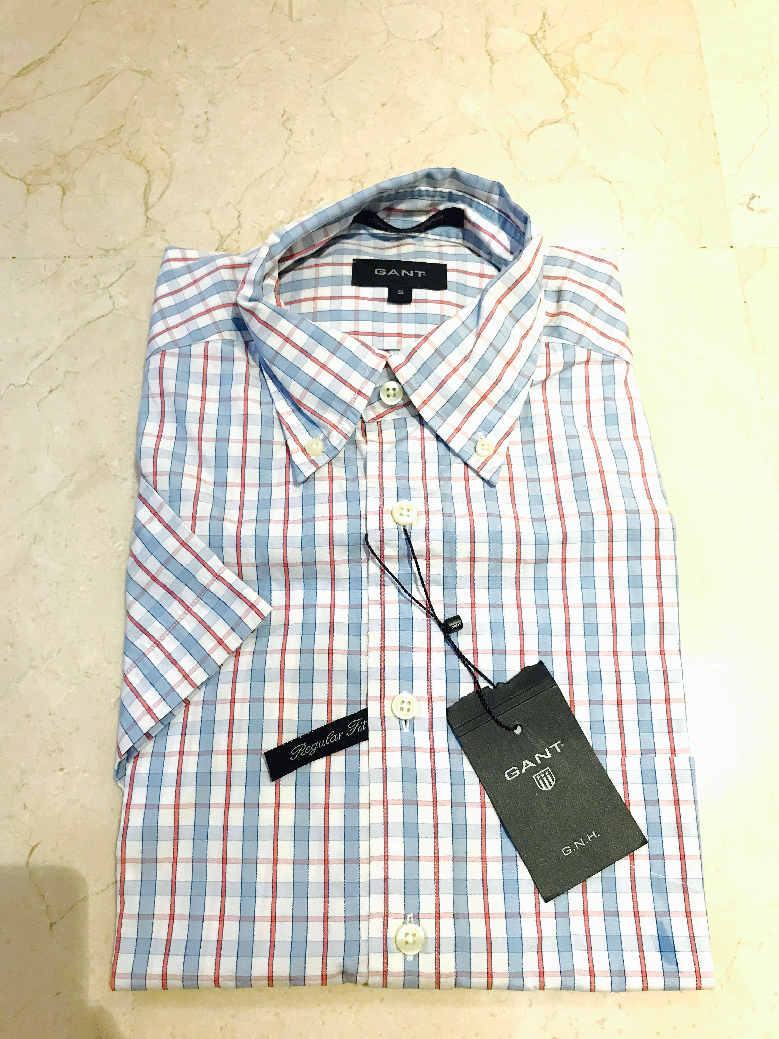 7d38dad69bc Gant Regular Fit Short Sleeve Shirt, Men's Fashion, Clothes, Tops on ...