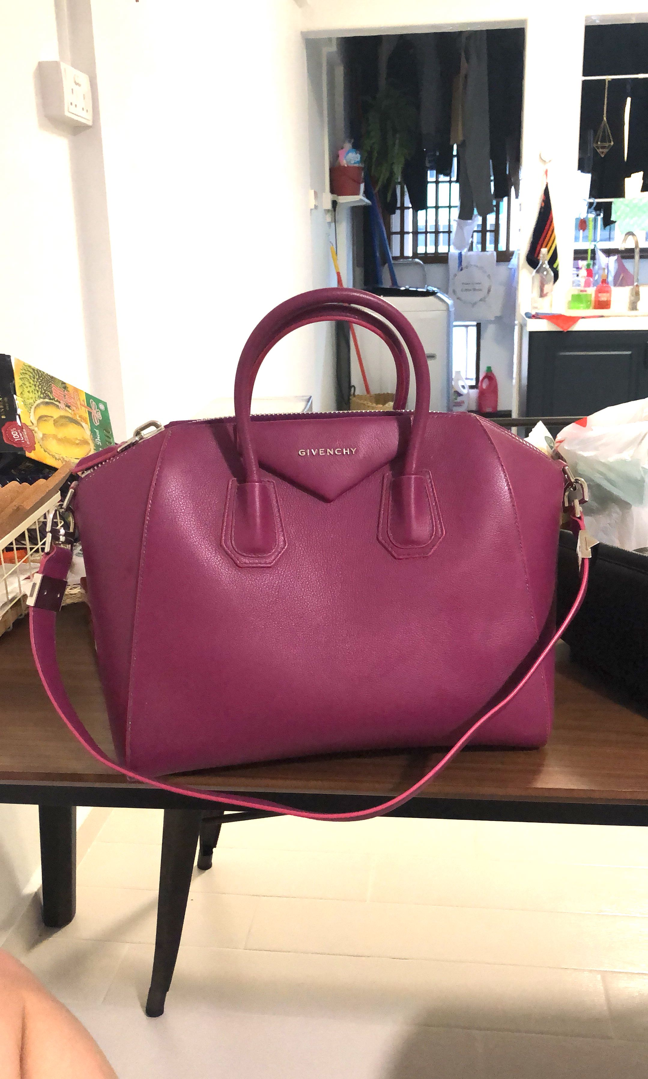 a5225c7215 Givenchy Antigona Medium tote, Orchid purple, Luxury, Bags & Wallets,  Handbags on Carousell