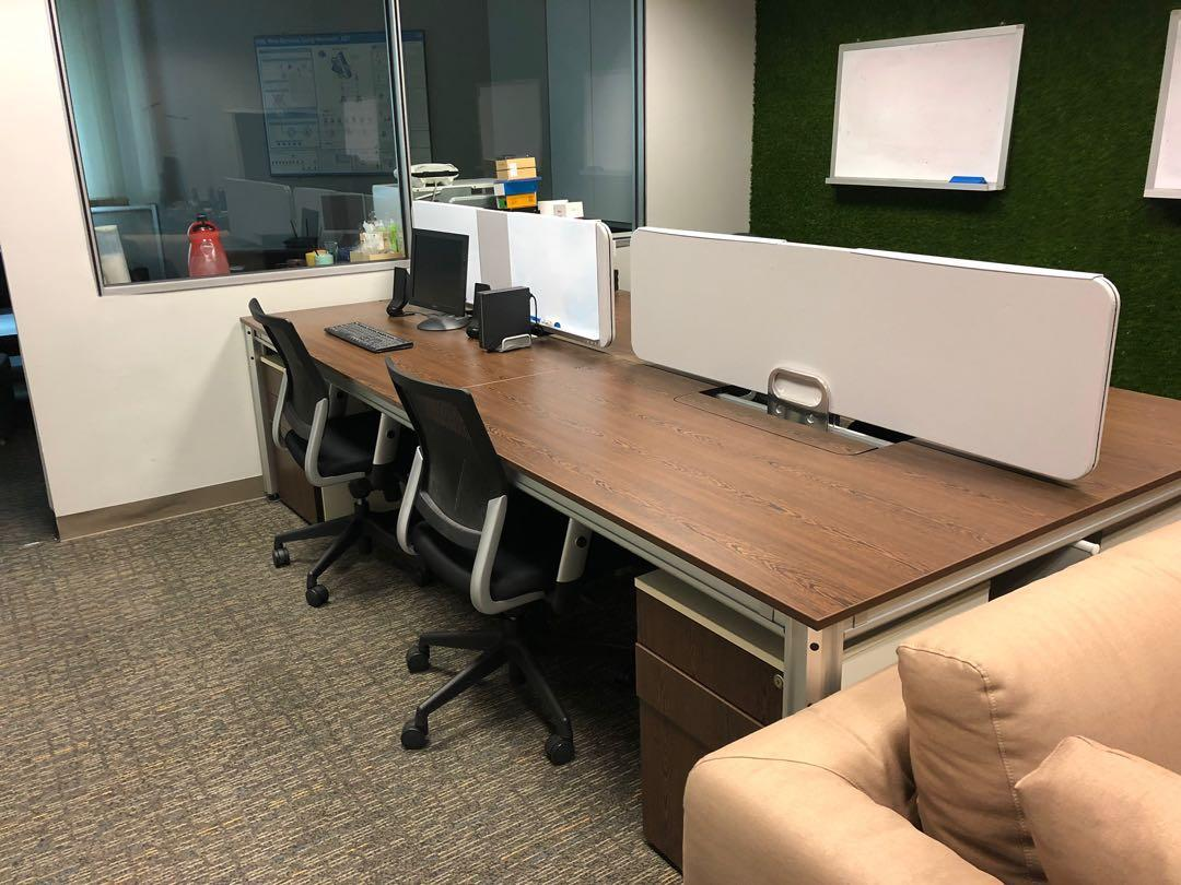 Custom Office Furniture For 5 Pax