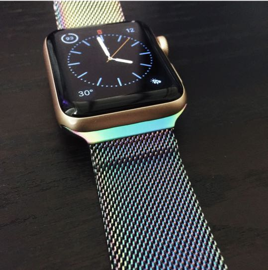 e5d359bb87d37 Holographic apple watch strap, Women's Fashion, Watches on Carousell