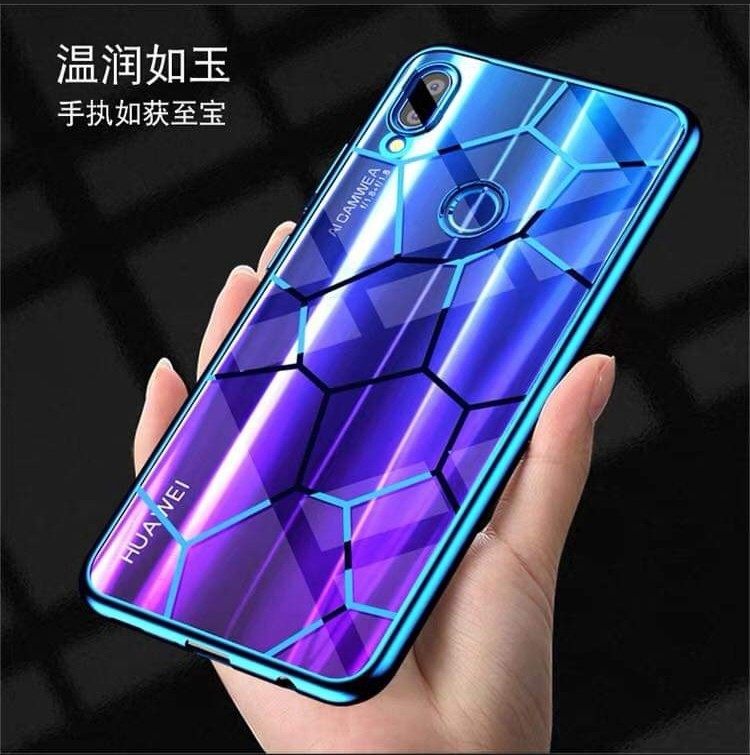 cheap for discount 1aed8 0d2ad Huawei Nova 3i Electroplate Blue TPU Cover Case