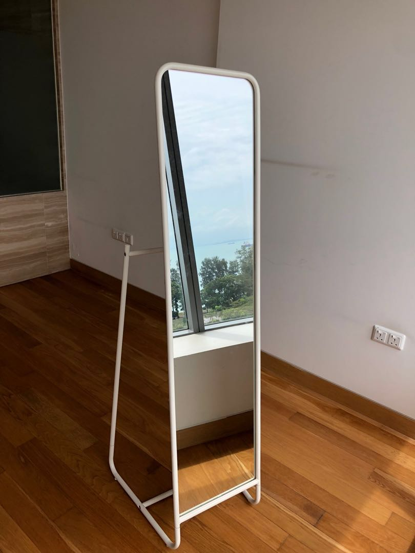 Ikea Knapper Standing Mirror In White 48x160 Furniture Others On Carousell