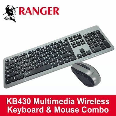 b43e12a2451 (INSTOCK) RANGER Multimedia Wireless Keyboard & Optical Mouse KB430,  Electronics, Computer Parts & Accessories on Carousell
