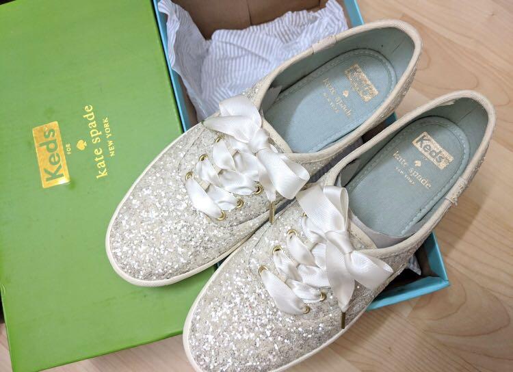 e9a37bb4d1 Keds x Kate Spade Glitter Wedding Shoe, Women's Fashion, Shoes ...