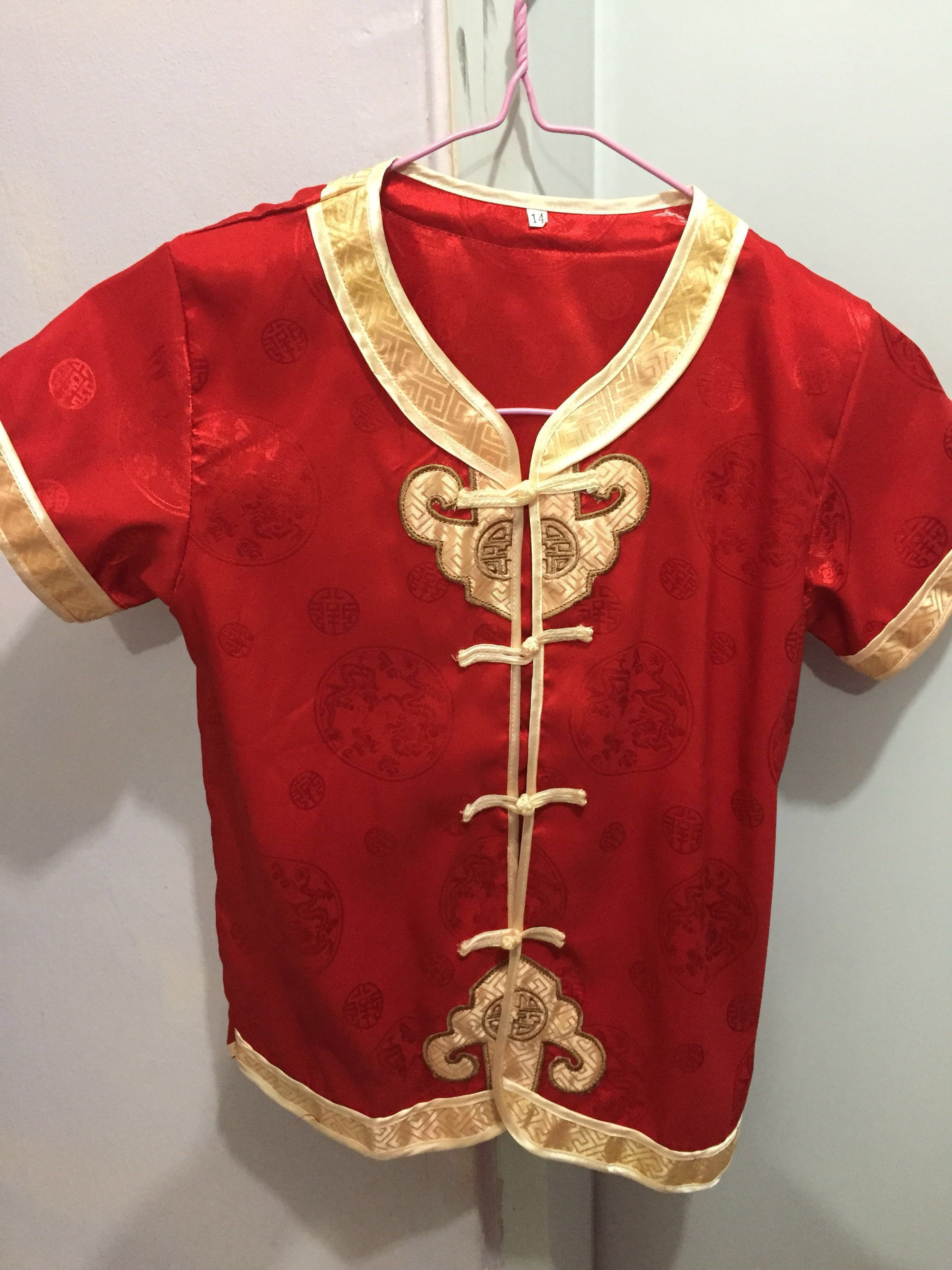 da84adf84 Kid Chinese New Year Costume size 14, Babies & Kids, Boys' Apparel ...