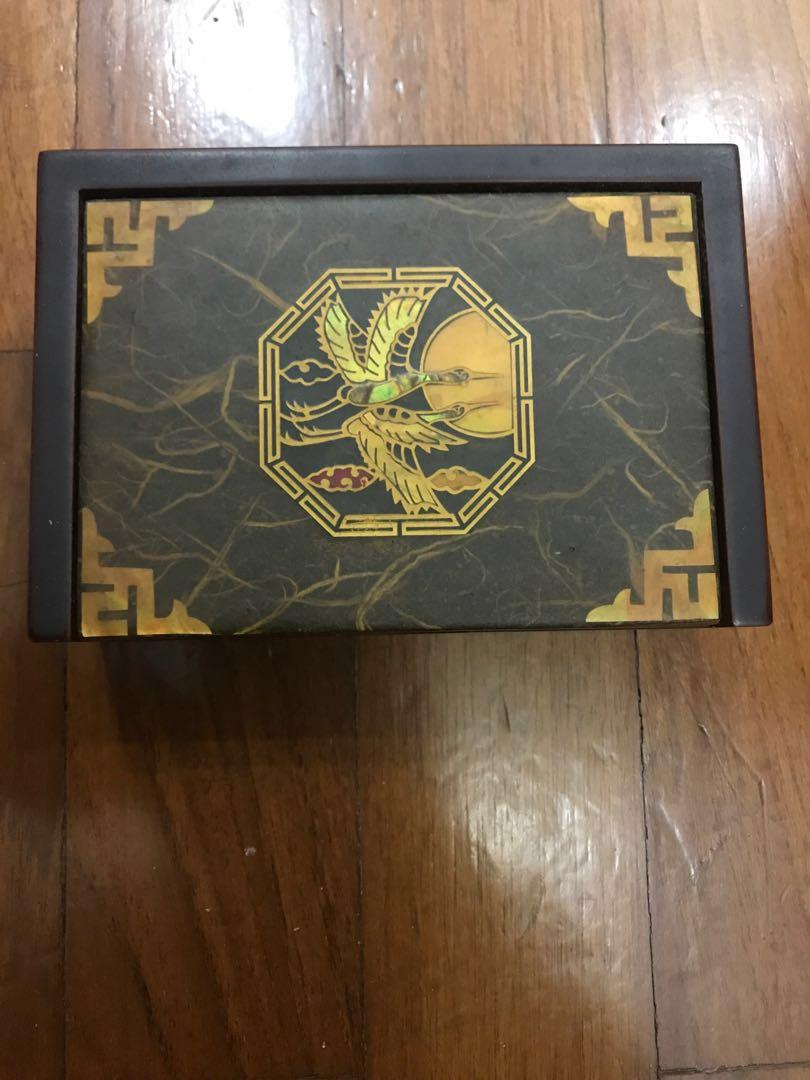 Korea Korean solid wood wooden box with mother of pearl
