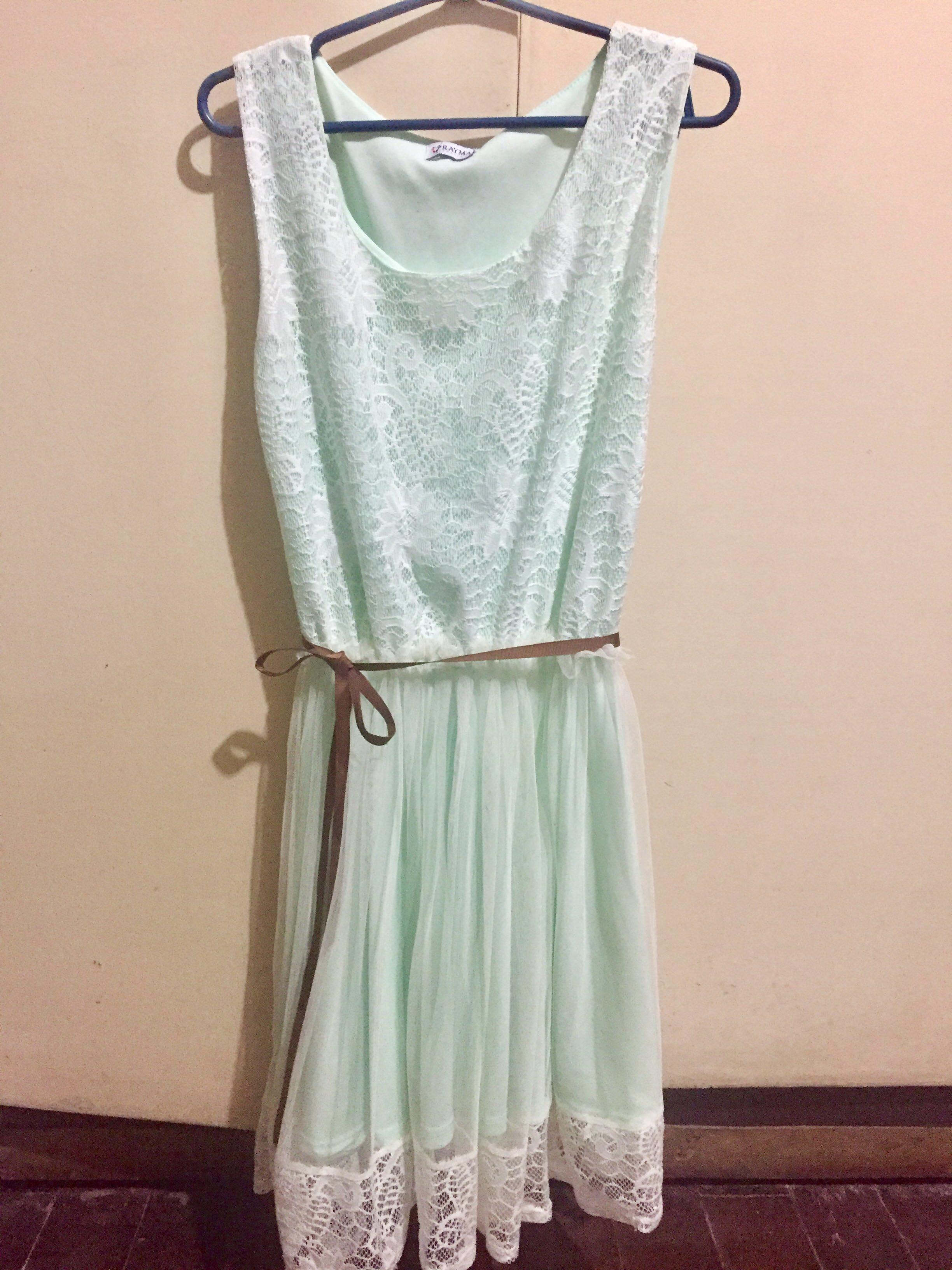 daf008be70a7 Mint Green Lace Dress