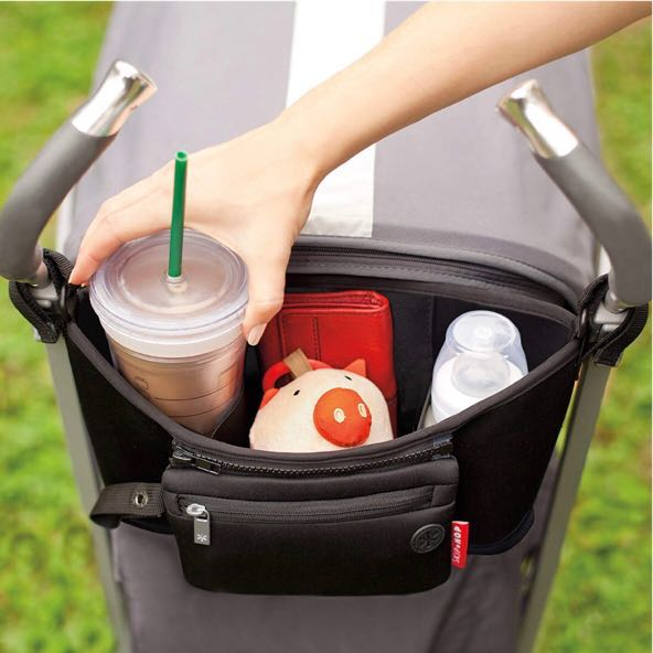 NEW Universal Fit Attachable Neoprene Stroller Organizer and Cup Holder