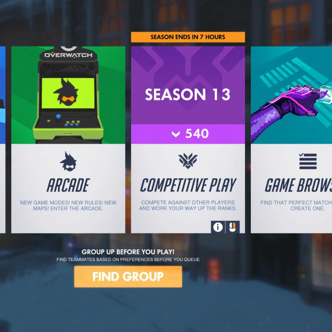 Overwatch Bronze 500 SR, Toys & Games, Video Gaming, Video