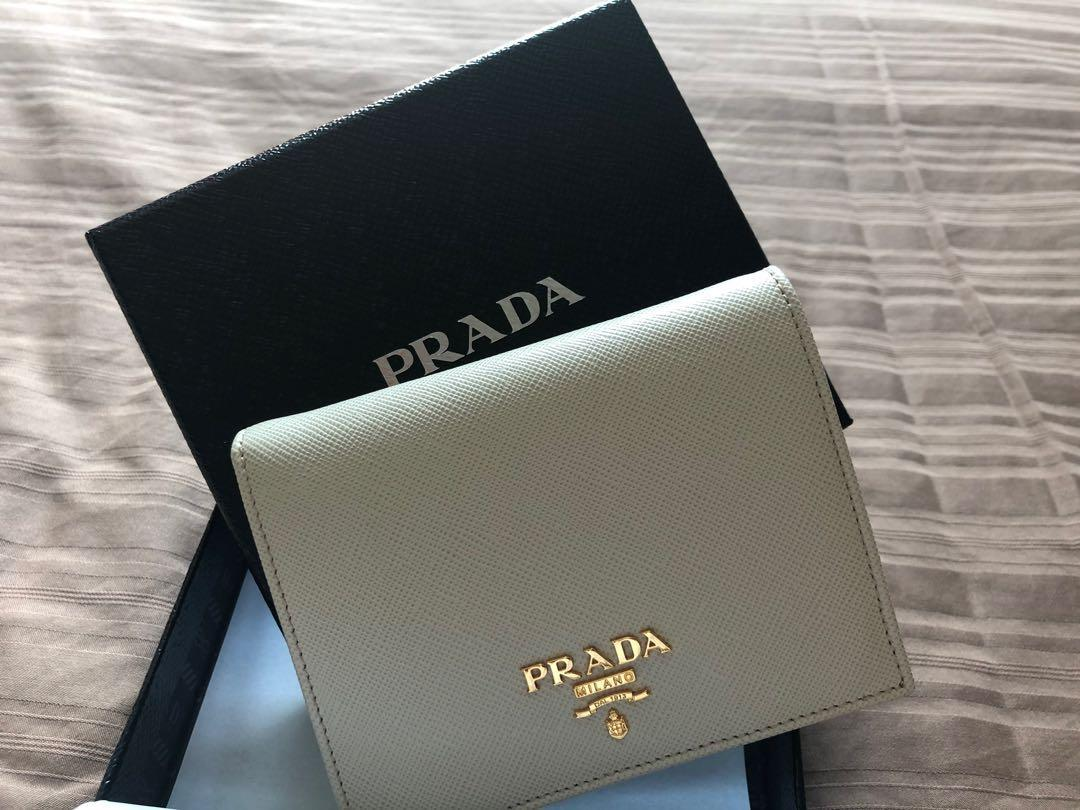 fd86266f Prada Small Wallet in Off-white, Luxury, Bags & Wallets, Wallets on ...