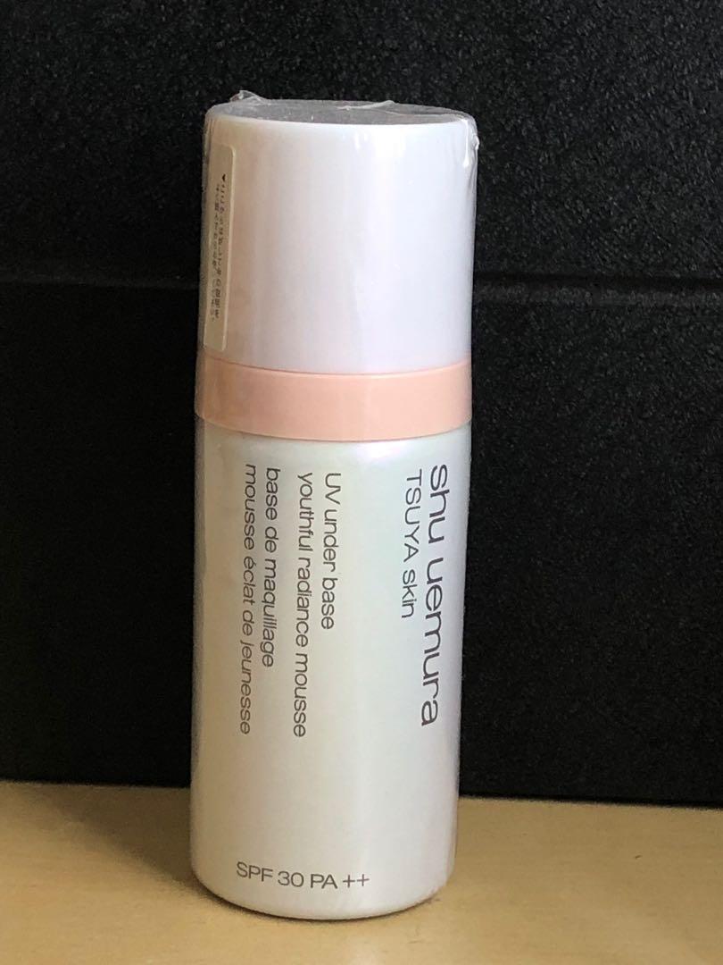 Shu Uemura TSUYA skin UV under base & Purifier Porefinist cleansing water