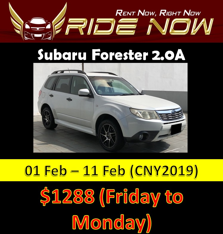 subaru forester 2 0a cny car rental cars vehicle rentals on carousell rh sg carousell com