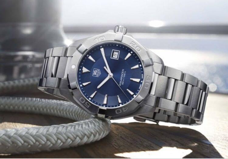 a1089a9162e Tag Heuer Aquaracer 300M Blue Dial Men's Watch WAY1112.BA0928, Men's ...