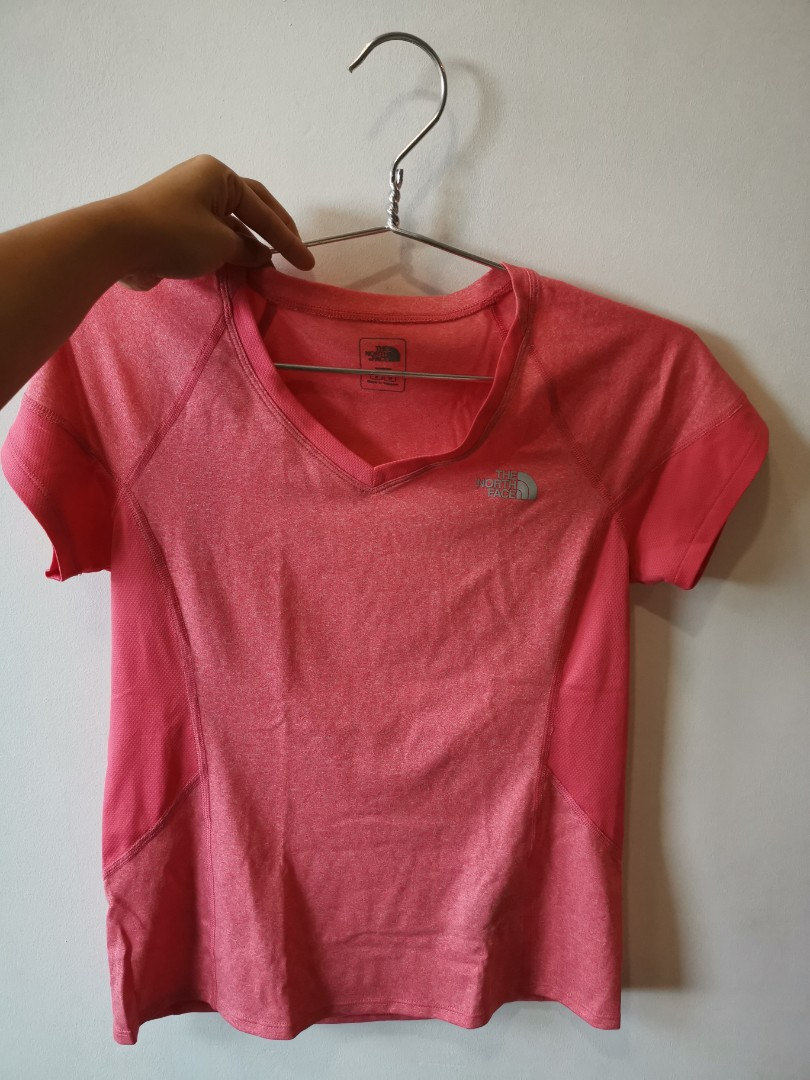 5d69310c0 The North Face salmon pink dri-fit tee