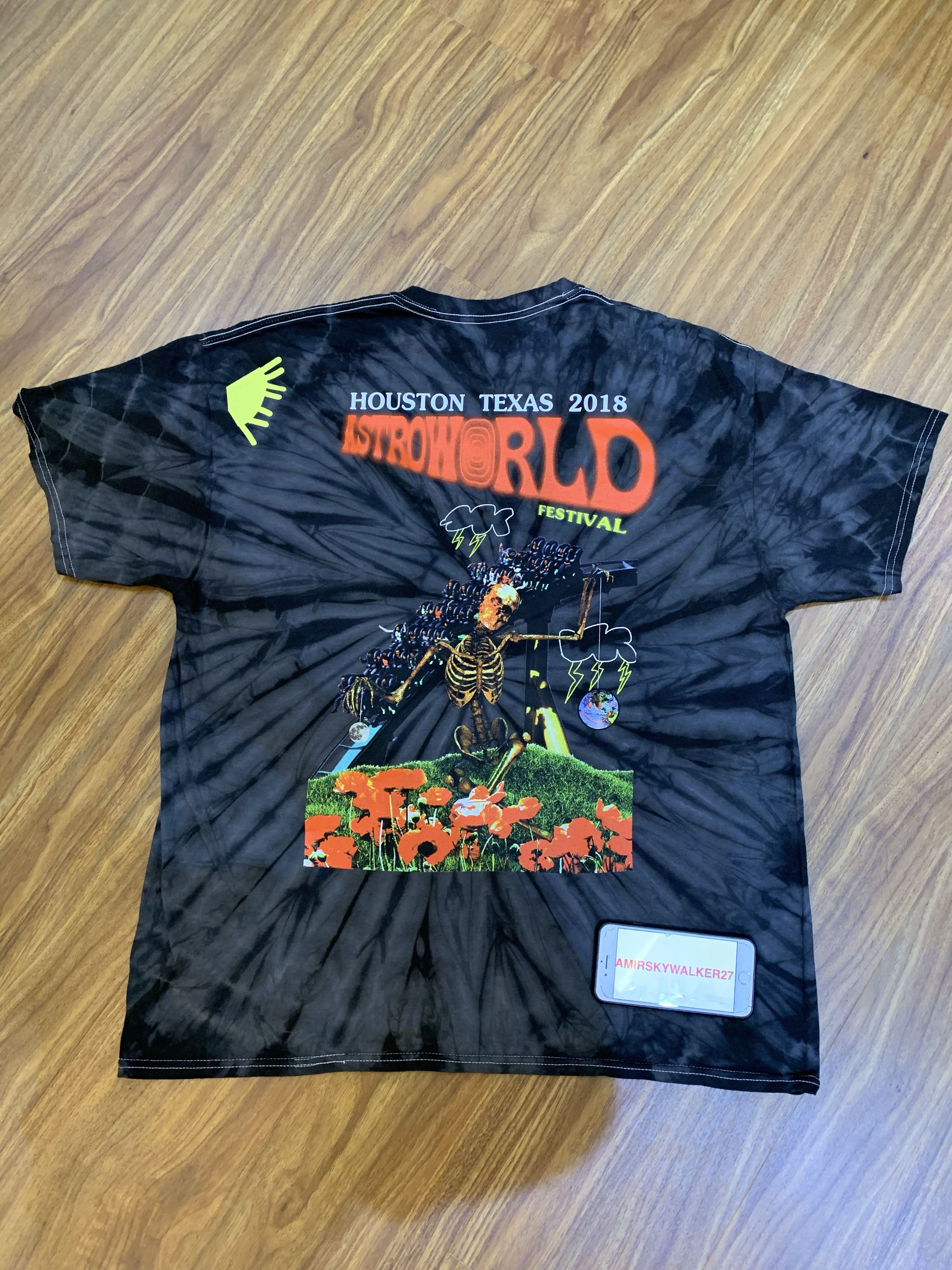 0f2af56b Travis Scott Astroworld Festival Tie Dye T-Shirt XL, Men's Fashion,  Clothes, Tops on Carousell