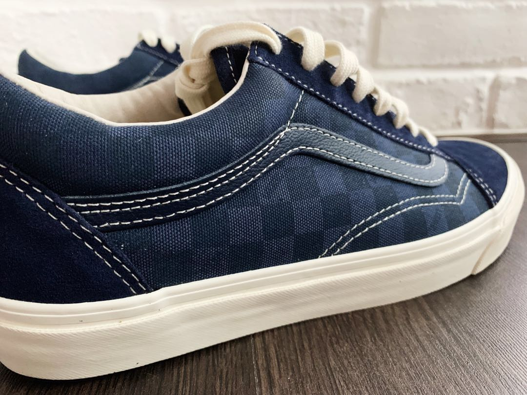 Vans Vault Old Skool Lux Blue Checkerboard US 9 Mens   US 10.5 ... f39300056