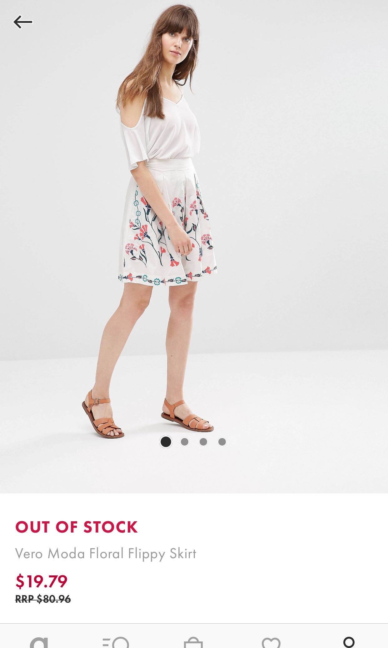 7fc25c77b0 Vero Moda floral flippy skirt, Women's Fashion, Clothes, Dresses ...